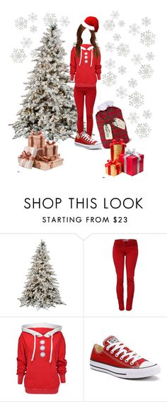 """🎁Delivering Presents to Fam/Friends🎁"" by minjiofficial ❤ liked on Polyvore featuring Wildfox, Converse and Improvements"