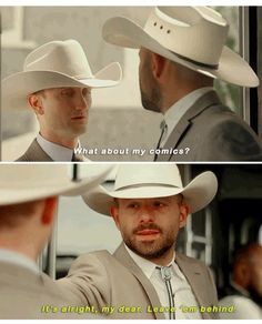 """Fiore: What about my comics? DeBlanc: It's all right, my dear. Leave 'em behind. #Preacher 1x09 """"Finish The Song"""""""