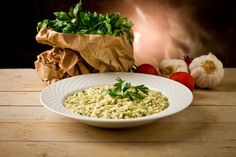 Risotto Primer on Italian Food Forever Spinach Recipes, Rice Recipes, Homemade Lasagna Noodles, Crockpot Side Dishes, Lotsa Pasta, Vegetable Puree, No Cook Meals, Pasta Dishes, Food Dinners