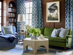 Velvet Sofa - Design photos, ideas and inspiration. Amazing gallery of interior design and decorating ideas of Velvet Sofa in bedrooms, living rooms, dens/libraries/offices, girl's rooms by elite interior designers - Page 17 Living Room Green, Decor, Interior Design, Living Room, Home, Interior, Family Room, Home Decor, Room