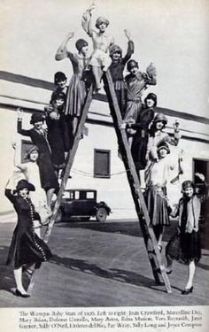 WAMPAS Baby stars 1926 Left to right: Dolores Costello, Vera Reynolds, Mary Astor, Marceline Day, Edna Marion, Mary Brian, Fay Wray, Janet Gaynor, Sally Long, Joyce Compton, Dolores Del Rio, Sally O'Neil, and Joan Crawford.