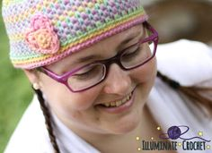 Color Squish Beanie #Crochet Pattern for sale from Illuminate Crochet