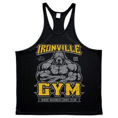 0bf571e25c0026 Ironville Gym Pitbull - STRINGER TANK TOP