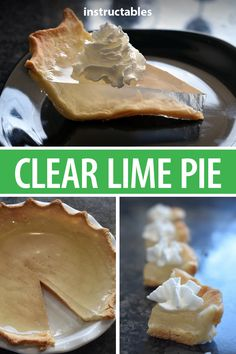 Bake up a clear lime pie a truly unique dessert made up of a traditional crust and clear gelatin that can be flavored however you want. - Unflavored Water - Ideas of Unflavored Water Ice Cream Recipes, Pie Recipes, Snack Recipes, Dessert Recipes, Cooking Recipes, Lime Recipes Baking, Unique Desserts, Unique Recipes, Lime Pie