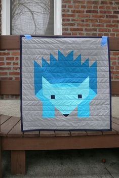 love this graphic quilt  Hazel Hedgehog II | Ginger Makes