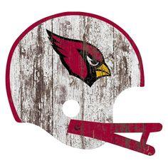 NFL Arizona Cardinals Distressed Helmet Cutout Sign