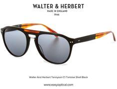 Walter and Herbert Tennyson Sunglasses Black Sunglasses, Oakley Sunglasses, Tortoise Shell, Style, Swag, Outfits