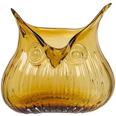 Magpie The Modern Home - Edie Owl Vase - Amber ($32) ❤ liked on Polyvore featuring home, home decor, vases, orange, owl home decor, modern home accessories, mod home decor, owl home accessories i orange home decor
