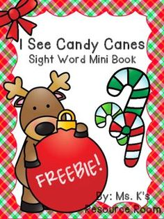 A freebie just in time for the holidays!*This mini book focuses on the sight word 'see'. At only 6 half pages, this mini book is perfect for morning work, an addition to centers, or small group work.*Great for students also working on colors!*Reinforces ABAB patterns like on a candy cane!*Perfect for early elementary, homeschooling, pre-k, and special education!