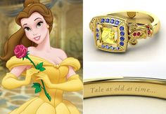 Disney Princess Engagement Rings - I wouldn't want them as an engagement ring, but some of them are really cute!
