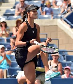 Happy days for Ana Ivanovic who beat Alison Riske to reach the second round at t. Ana Ivanovic, Wta Tennis, Sport Tennis, Athletic Models, Athletic Women, Foto Sport, Tennis World, Tennis Players Female, Tennis Fashion