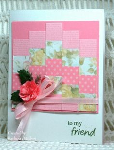 I love to do quilted cards like this!