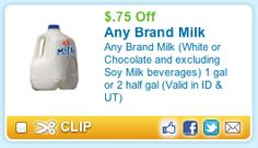 Tight Wad in Utah: ANY Brand Milk & Cheese Coupons for ID & UT!