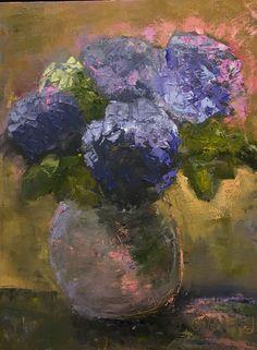 Hydrangeas, oil 18 x 24