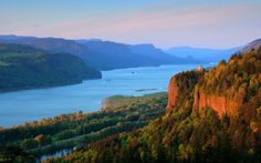 The Columbia River Gorge is a canyon of the Columbia River in the Pacific Northwest of the United States