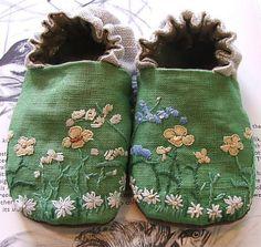 "charisgratia: "" Green Linen Shoes by Tiny Happy (Melissa Wastney) """