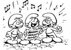 the smurfs who are singing some cool