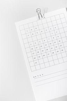 2016 Grid Desk Calendar by Lille Mous. Features note section and mini white…