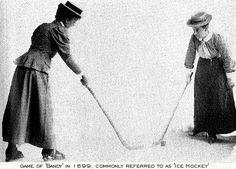 Game of 'bandy', aka ice hockey