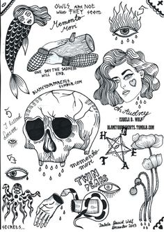 Izabela D Wolf tattoo flash