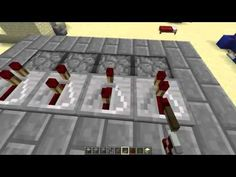 How to make a Minecraft Castle Gate with pistons 1.4.2! - YouTube