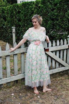 Custom Girl Next Door Printed Sweet Flowered Bridesmaids Dresses, $77.99