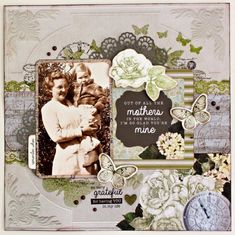 The Kaisercraft Design Team have created some very shabby chic layouts with the new release Provincial Paper Collection and teamed up with the Provincial Clear stamp CS243 & Embossing folder EF…