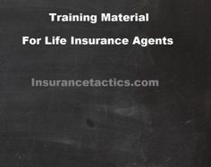 Training Material For Life Insurance Agents