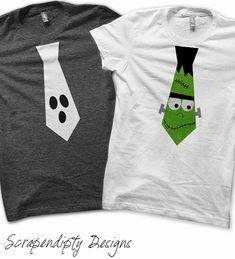 Halloween Iron on Transfer - Iron on Boys Tie Shirt / Boys Frankenstein Shirt…