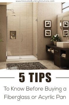 BEWARE of these 5 buying mistakes people make when purchasing an acrylic or fiberglass shower pan! | Innovate Building Solutions | #AcrylicShower #FiberglassShower #BathroomRemodel | Shower Remodeling | Bathroom Remodel DIY | Shower Remodel | Fiberglass Shower Diy Bathroom Remodel, Shower Remodel, Bath Remodel, Bathroom Remodeling, Bathroom Flooring, Remodeling Ideas, Bathroom Ideas, Diy Shower Pan, Fiberglass Shower Pan