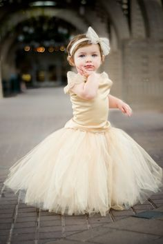 Flower Girl DressTutu and TopFull of by BellaBeanCouture on Etsy, $135.00