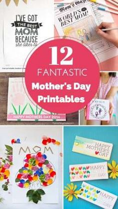 These 12 Fantastic Mother's Day Free Printables make great last minute gifts for mom.