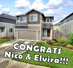 #CONGRATS to Brand New Homeowners, Nico & Elvira!  #QuallsTeam #QuallsRealEstate 360.870.2605 or www.QuallsRealEstate.com - Search for Homes!