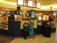 movie time with Gracie and Brayden - Paddington Bear
