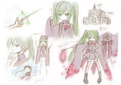 "Hatsune Miku's ""Senbonzakura"" Concept Art | 「お祝い&千本桜・設定書」/「一斗まる」の漫画 [pixiv] [05]"