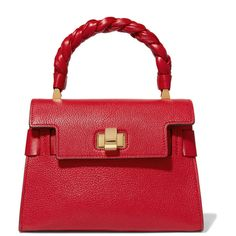 Miu Miu Miu Click textured-leather tote ($1,875) ❤ liked on Polyvore featuring bags, handbags, tote bags, red, snap closure purse, tote handbags, miu miu tote, miu miu handbags and red purse