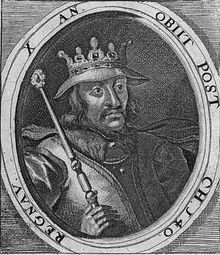 Harald ll of Denmark, son of Sweyn Forkbeard, ruled from 1014 to 1018.  He was succeeded by his brother, Cnut the Great.