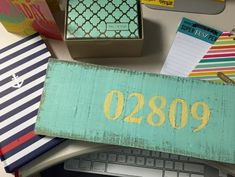 DIY Easy Zip Code Pallet Sign with your silhouette cameo or simply with a stencil.