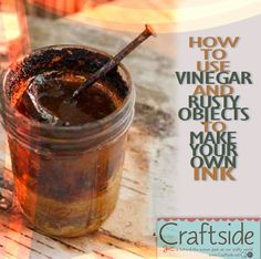 rusty objects in vingegar to oxidize make ink How To Make Ink, How To Make Paper, Homemade Paint, Earth Pigments, Organic Art, Diy Arts And Crafts, Diy Crafts, Nature Crafts, Mark Making