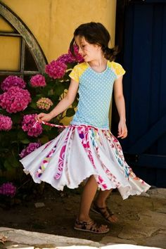 These cute skirts for girls will have them spinning like a top... even though it doesn't come with a top. ;) Twirly skirts for girls... done right!