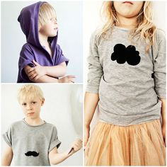 Add zippers to sweatshirts too. Black textile ink cats, clouds, faces, etc. Kids do their own? Kids on the Moon