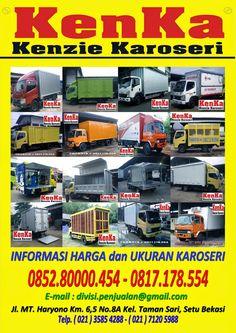 KAROSERI TRUCK BOX BESI DAN ALUMUNIUM >> KAROSERI KENKA Truck Boxes, Tow Truck, Trucks, Nerf, Ferrari, Dan, Comic Books, Cover, Sports