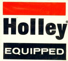 Holley Carburetors Fuel Pumps Decal