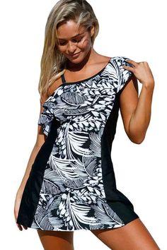 Ellady Jungle Single Shoulder 1pc Swim Dress