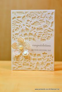 25 + › JanB Handmade Cards Atelier: Simple Glimmer Wedding Card & Michelle Kelly & … – The Best Ideas Wedding Shower Cards, Wedding Cards, Karten Diy, Engagement Cards, Stamping Up Cards, Congratulations Card, Creative Cards, Flower Cards, Scrapbook Cards