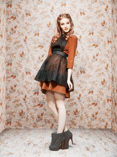 Ulyana Sergeenko - Ready-to-Wear - 2011 Fall-Winter Fashion Show, Fashion Design, Fashion Trends, Fashion Outfits, Ulyana Sergeenko, Apron Dress, Vintage Mode, Russian Fashion, English Style
