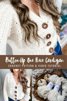 Crochet Crop Top Pattern - MJ's off the Hook Designs Gilet Crochet, Crochet Buttons, Crochet Cardigan Pattern, Knit Or Crochet, Cute Crochet, Easy Crochet, Crochet Sweaters, Crochet Crafts, Crochet Ideas