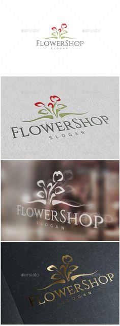 Flower Shop Logo  — EPS Template #inspiration #garden #wedding • Download ➝ https://graphicriver.net/item/flower-shop-logo/18689577?ref=pxcr