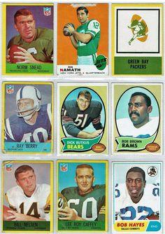 TOPPS/PA/ FOOTBALL/AUTH/VINTAGE VG-EX/ 27 GREAT CARDS, BUTKUS, NAMATH, UNITAS #TOPPSPHILADELPHIA #60sNFL