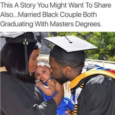 Married Black Couple Both Graduating With Masters Degrees